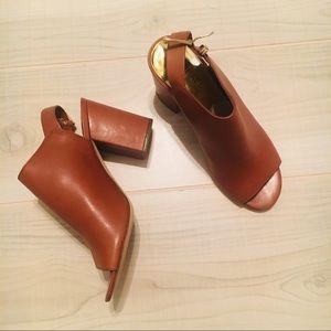 MICHAEL by Michael Kors brown peep toe booties